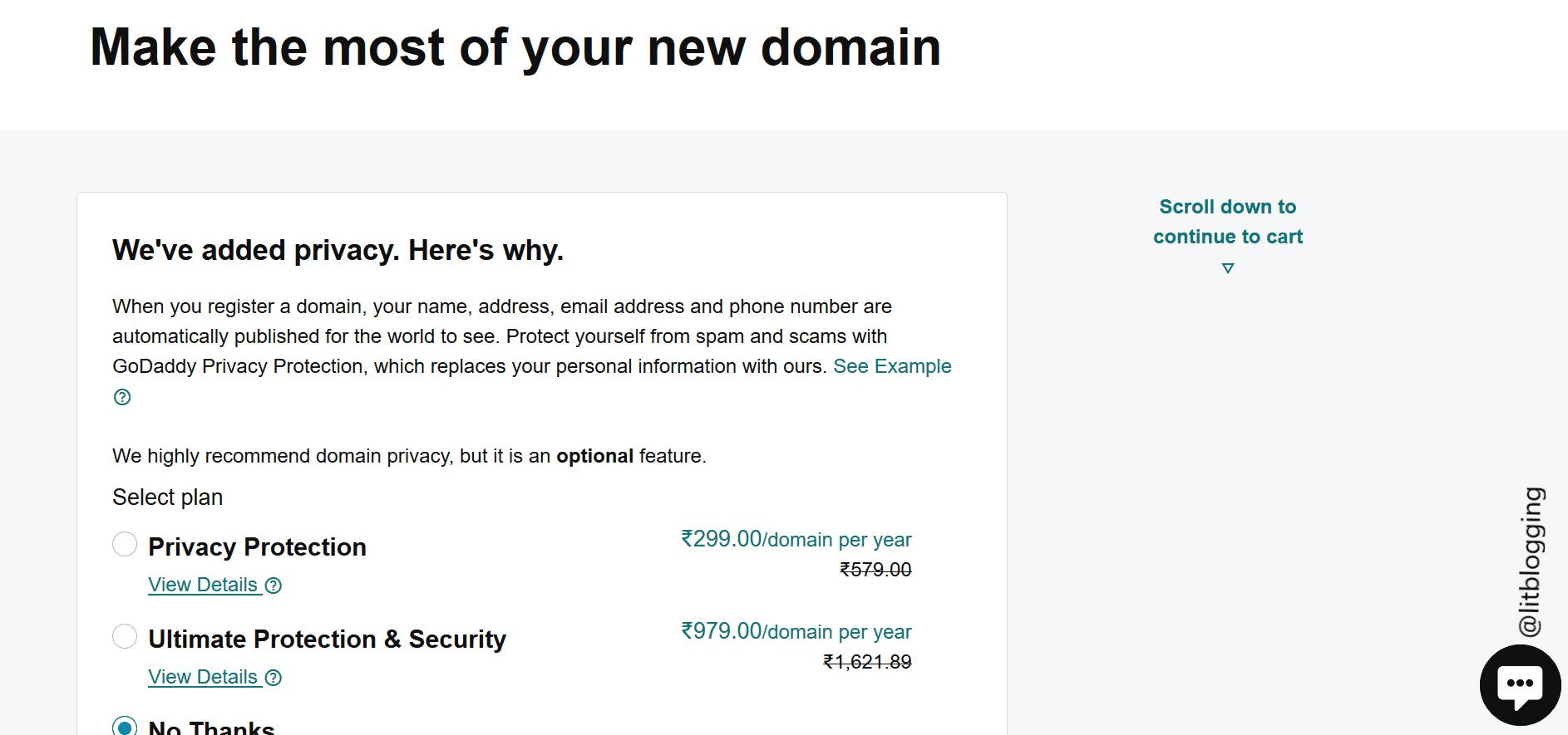 .com domain promocode