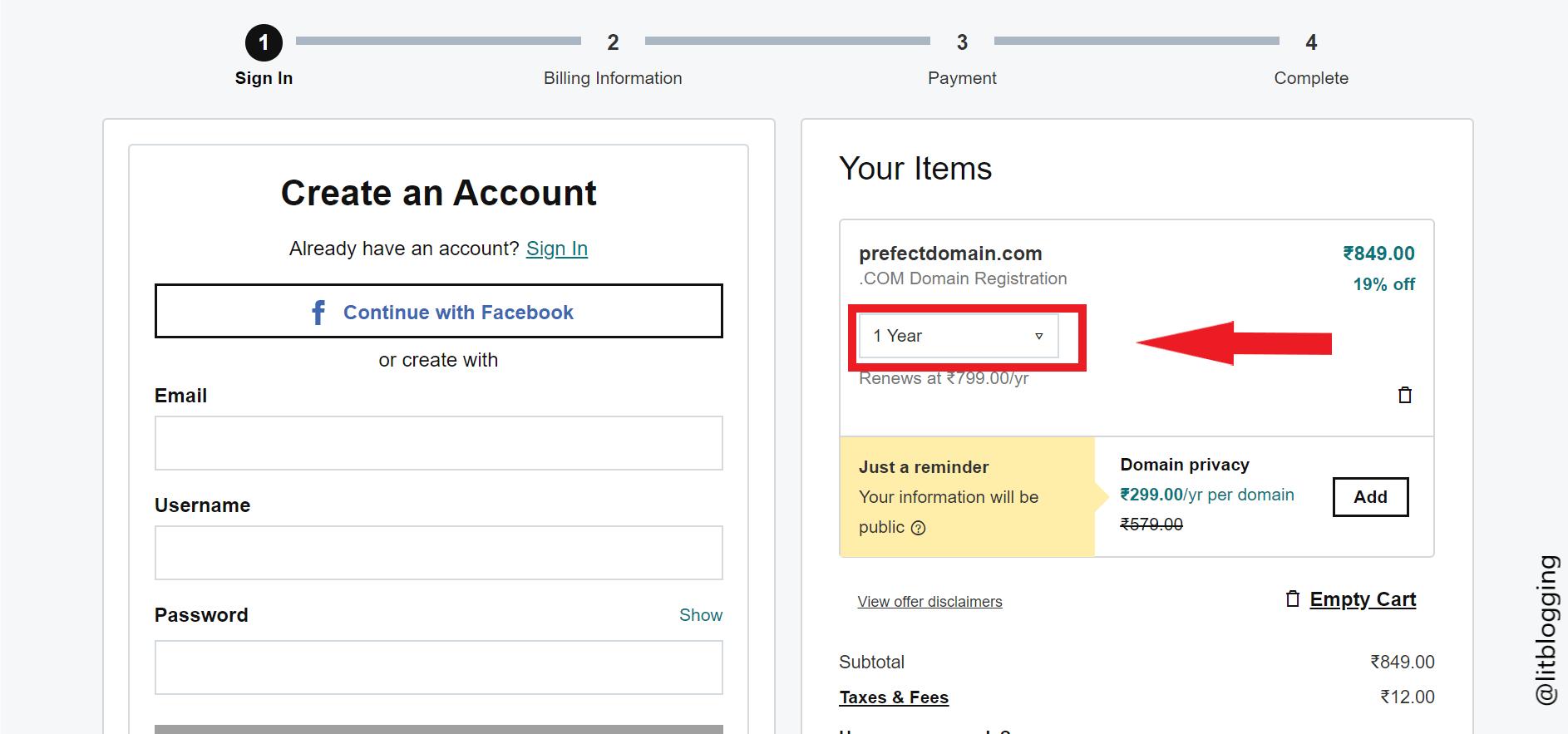 godaddy .com domain promocode
