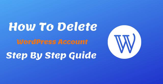 how to wordpress account