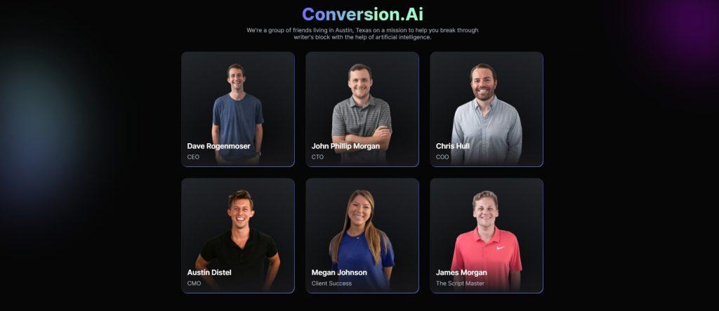 team behind conversion.ai
