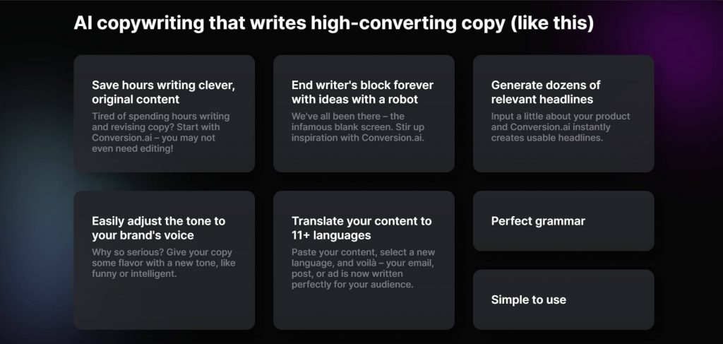 why you should use conversion.ai